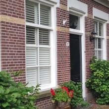 Dorpsstraat 52 Gevelaanzicht met ambachtelijk voegwerk met een type voeg snijvoeg in de traditionele stijl.