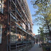 Geplaatste steiger Schepenstraat 3-5 Rotterdam