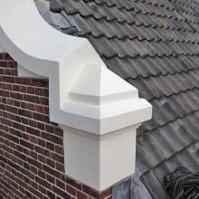 Resultaat aanbrengen en afwerken van de aangebrachte delen met reparatie betonmortel.