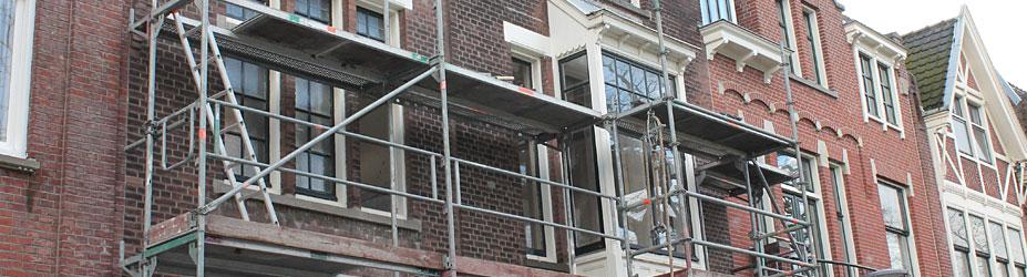 Gevelrenovatie Voorschoterlaan 48 Kralingen.