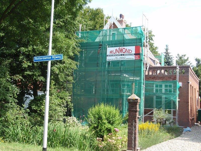 Gevelrenovatie woning aan de Rotterdamse Rijweg