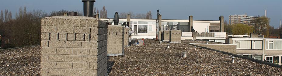 Schoorsteenrenovatie Rotterdam Hoogvliet.