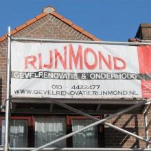 Steigerwerk gevelrenovatie Rotterdam Pernis.