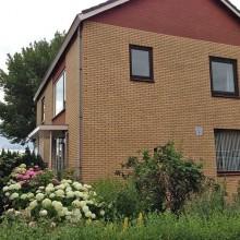 Woning in Berkel en Rodenrijs na de totale gevelrenovatie.