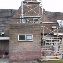 De woning na de gevelrenovatie door Gevelrenovatiebedrijf Rijnmond